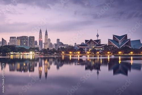 Canvas Prints Kuala Lumpur Moody sunrise in Kuala Lumpur