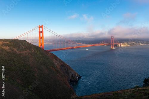 Zdjęcie XXL Golden Gate Bridge przy zmierzchem, San Fransisco, Kalifornia