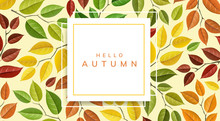 Autumn Leaf Pattern With Geome...