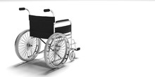 Wheelchair Isolated On White B...