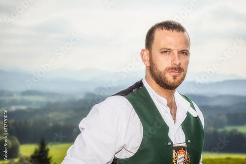 Fotografiet Bavarian tradition male