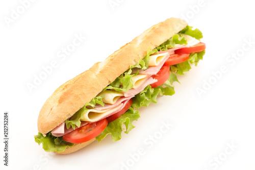 Staande foto Snack sandwich on white background