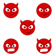 Angry And Devil Emoticons
