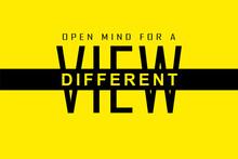 Different View Slogan Text Sim...