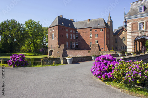 Foto op Canvas Historisch geb. Water Castle Wissen in Germany