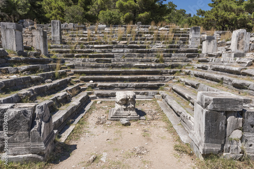 Foto op Aluminium Oude gebouw Bouleuterion Building in Priene Ancient City İn Turkey