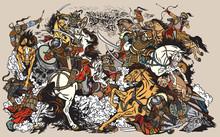 Battle Between Mongols Clans A...