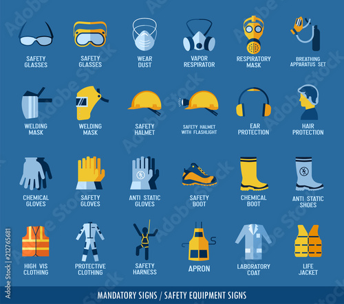 Photo  Collection of safety equipment