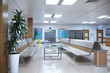 Hallway the emergency room and outpatient hospital. 3d illustration