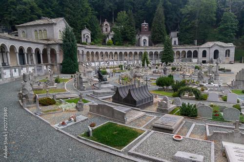 Keuken foto achterwand Begraafplaats Oropa Cemetery, Biella, Italy