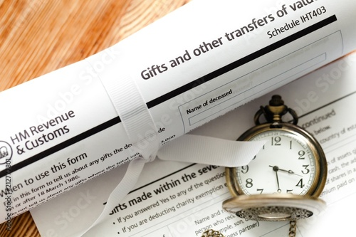 Fotografía Document - Tax of gifts and other transports of value