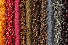 Various Spices And Herbs Are S...