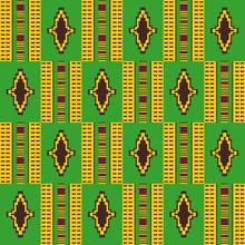 Cloth Kente.Geometric Seamless Pattern.