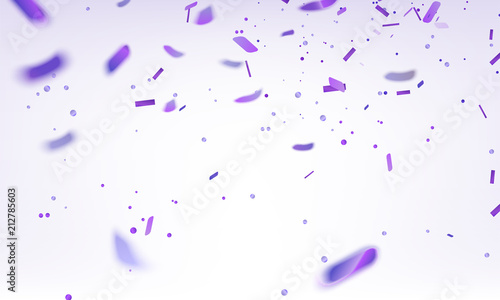 Stock vector illustration purple confetti isolated on a white background EPS 10