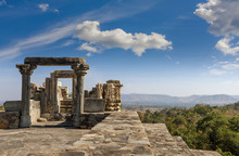 Ruined Temple In The Kumbhalgarh Fort Complex, Rajasthan, India