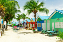 Colourful Houses On The Tropic...
