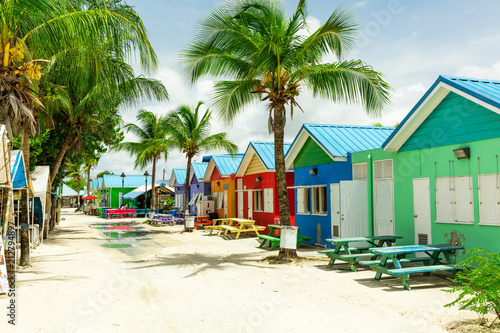 Colourful houses on the tropical island of Barbados