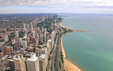 An Aerial Image Of The Chicago...