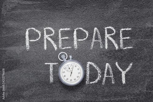 Fotografie, Obraz  prepare today watch
