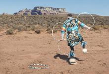Colorful Navajo Native Dancer....