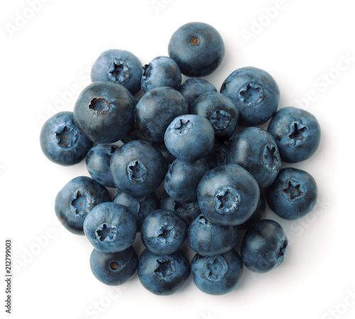 Top view of blueberries heap