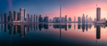 Panoramic View Of Dubai Busine...