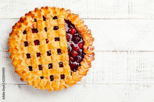 Fotografering Berry pie
