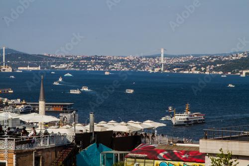Fotografia  view of peninsula, bosphorus in İstanbul,Turkey