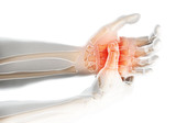 Fototapeta Do przedpokoju - Palm painful - skeleton x-ray, Medical concept.