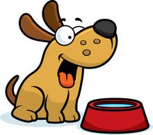 Cartoon Dog Water Bowl