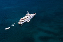 Aerial View Of A Luxury Yacht ...