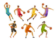 Basketball Players. Sport Conc...