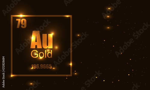 Photo Gold molecula vector illustration