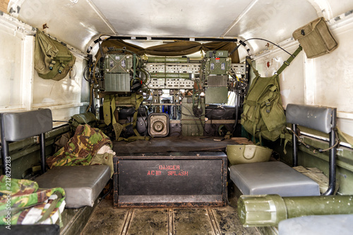 Tablou Canvas Military Army Transport Carrier Equipment and Supplier - Interior View