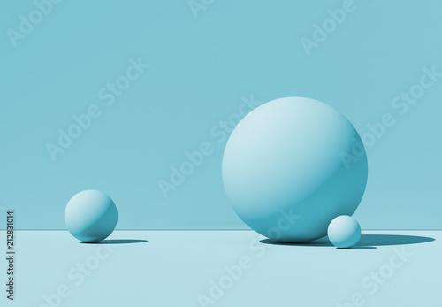 3D illustration geometric balls. Abstract background. Mockup.