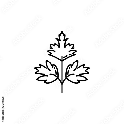 Fototapeta cilantro dusk style icon. Element of fruits and vegetables icon for mobile concept and web apps. Dusk style cilantro icon can be used for web and mobile obraz