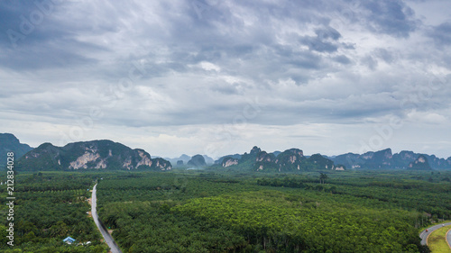 Foto op Canvas Bleke violet landscape of Mountain in Krabi Thailand