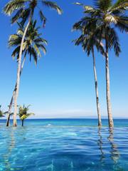 Infinity pool in Bali, Indonesia