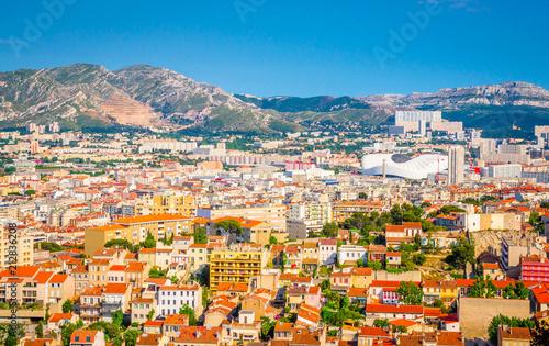 In de dag Havana Aerial view of beautiful city Marseille, France