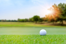 Golf Ball On Blurred Beautiful...