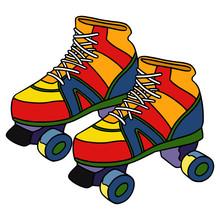 Roller Skate Cartoon Illustrat...
