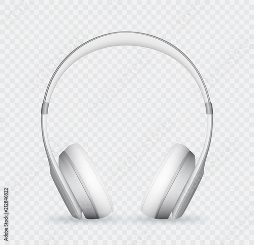 Fotografie, Obraz  Vector realistic headphone