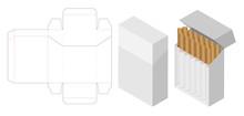 Cigarette Box 3d Mockup With B...