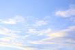 Peaceful clouds in the blue sky