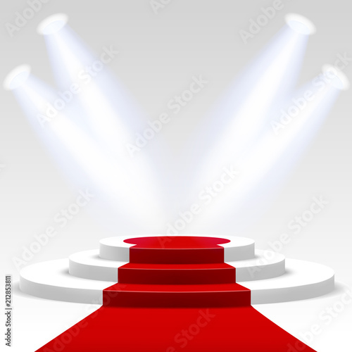 Red carpet with ladder #212853811