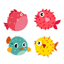 Puffer Fish Vector Collection ...