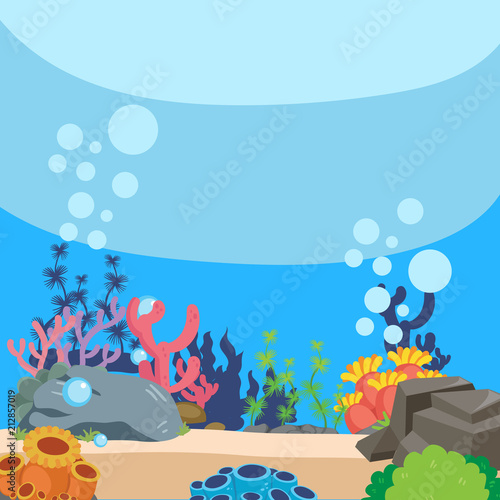 ocean background vector design Canvas