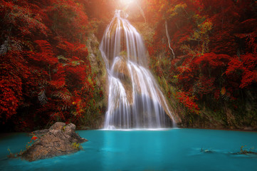 Fototapeta Wodospad Pha Nam Yod Waterfall.