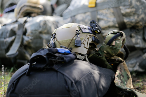 Equipment of Romanian military paratroopers Canvas Print