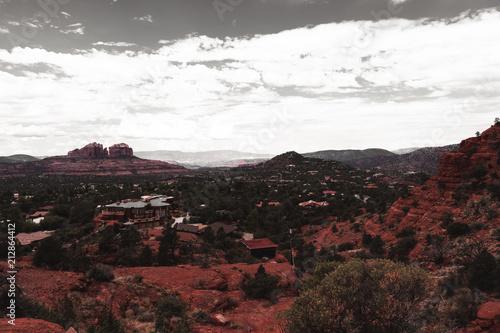 In de dag Zwart Sedona, Arizona, USA